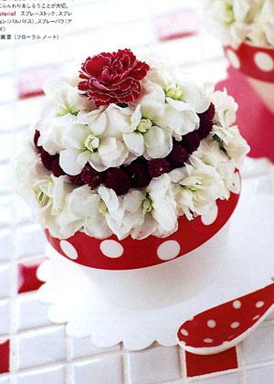 BEST FLOWER ARRANGEMENT掲載 カップケーキアレンジメント